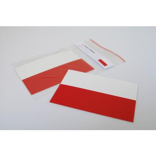Naklejka Flaga Polski 110 x 75 mm