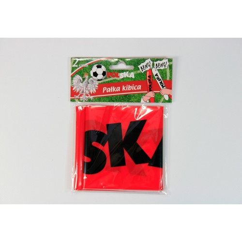 Klaskacze balonowe - pałki kibica - biało-czerwone z napisem POLSKA