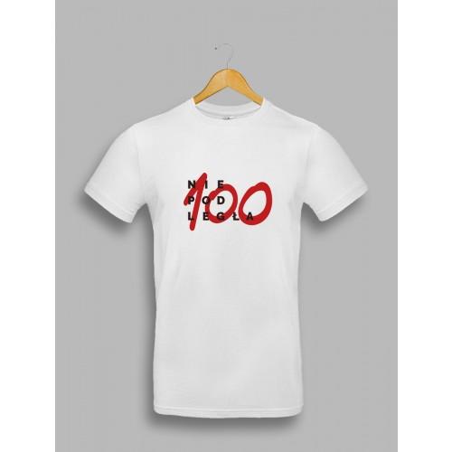 "Męska Biała koszulka ""Niepodległa 100"""
