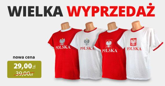 Wyprzedaż koszulek Polska. Teraz jedynie 29 zł