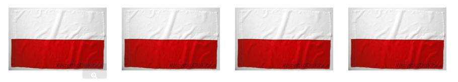 flagi Polska gładkie